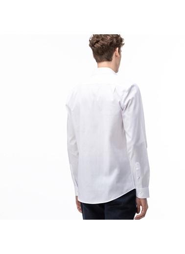 Lacoste Erkek Slim Fit Düğme Gömlek CH0029.29A Beyaz